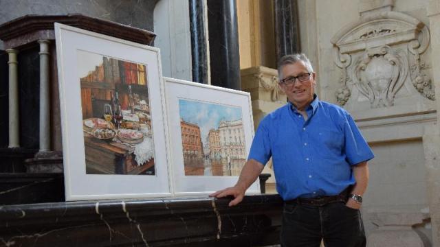 Daniel Leray, un des artistes d'Arfi qui exposent à Mayenne