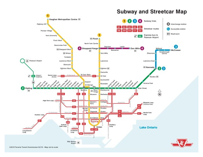 Toronto Bus And Subway Map.Ttc Map Bus