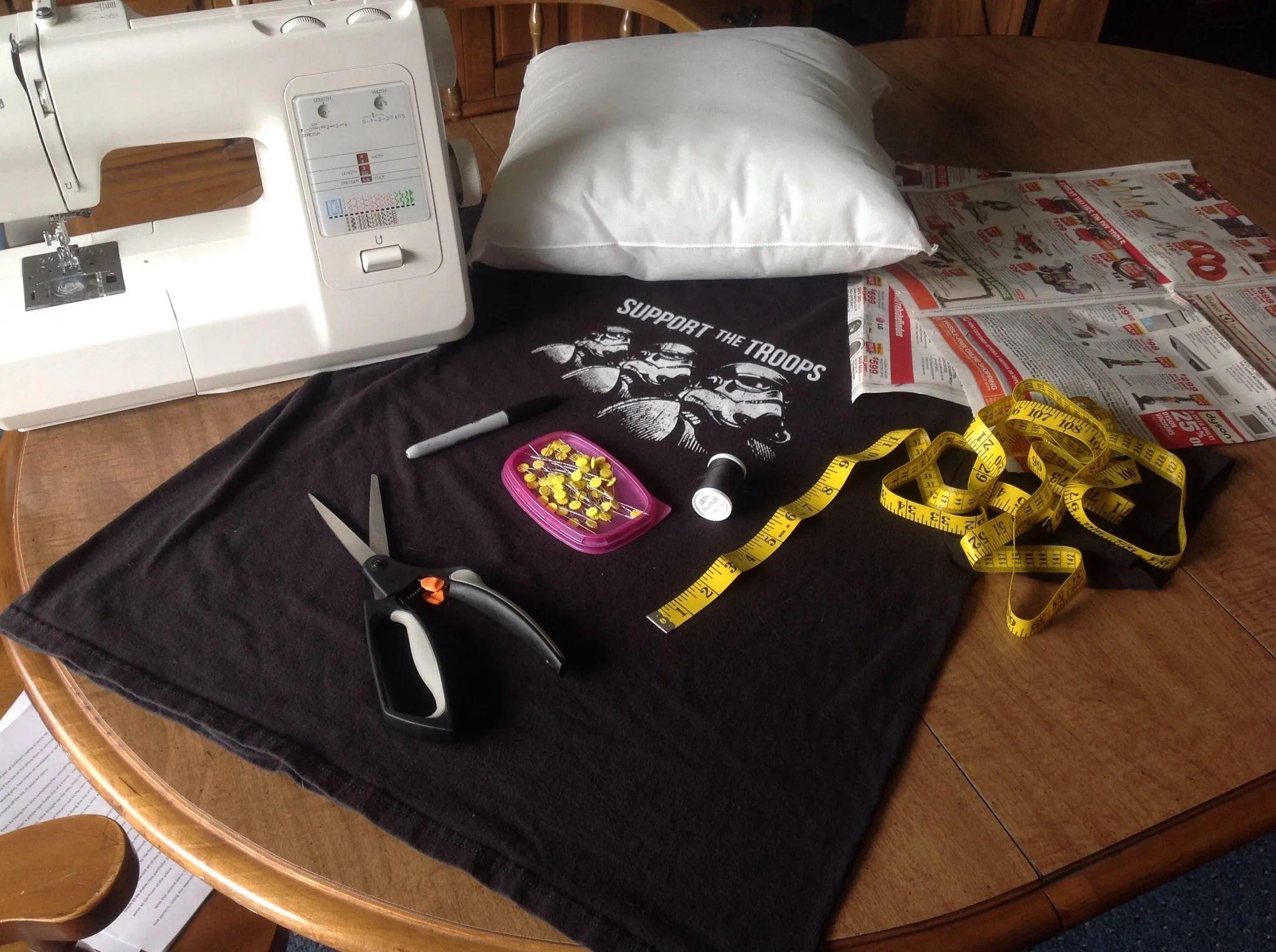 how to make a t shirt pillow case b c