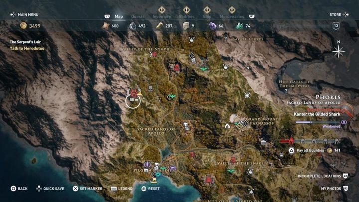 Место: Священные Земли Аполлона, Фокис - Калидонский кабан (Фокис) - Охота на семью зверей в ассасинах Символ веры - Охота на семью зверей - Игра Assassins Creed Odyssey Game Guide