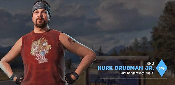 Hurk Drubman Junior is the fifth specialist in the game - Specialists in Far Cry 5 (Companions) - Guidebook - Far Cry 5 Game Guide