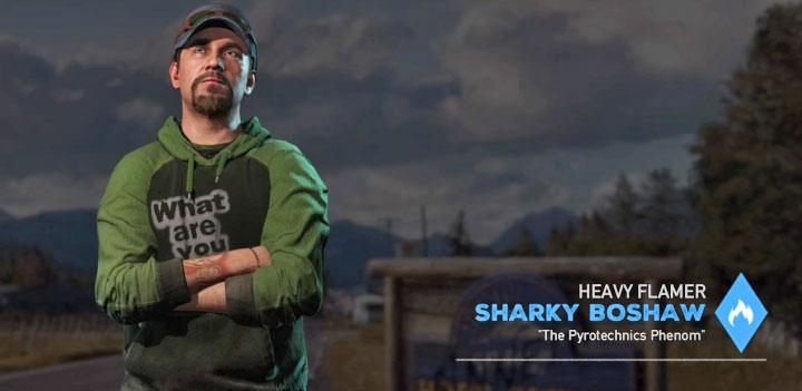 Sharky Boshaw is the eighth specialist in the game - Specialists in Far Cry 5 (Companions) - Guidebook - Far Cry 5 Game Guide