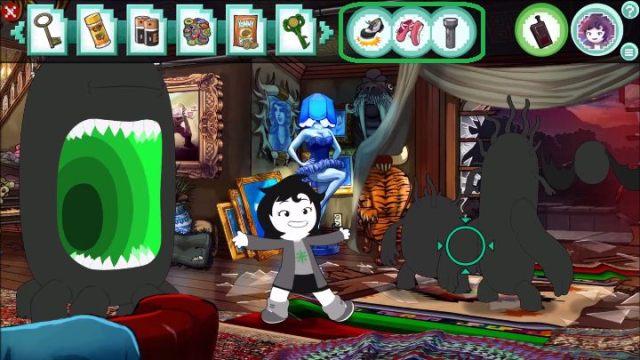 Las armas se enumeran aproximadamente en el centro de la parte superior de la pantalla (destacado arriba en verde) - Mecánica de juego y combate |  Básicos del juego - Conceptos básicos del juego - Hiveswap Game Guide