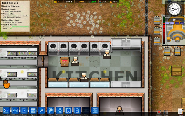 Kitchen Rooms Prison Architect Game Guide Walkthrough