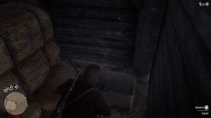 Перепрыгните по лестнице в сарай и взберитесь вверх - Усадьба Stashes - Карты сокровищ в Red Dead Redemption 2 - Карта сокровищ - Red Dead Redemption 2 Guide