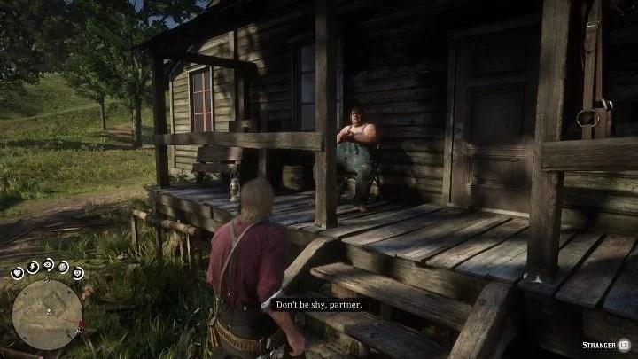 Чтобы добраться до сокровища, спрятанного в этой усадьбе, вы должны сначала поговорить с человеком, сидящим на крыльце. - Усадьбы - Карты сокровищ в Red Dead Redemption 2 - Карта сокровищ - Red Dead Redemption 2 Guide