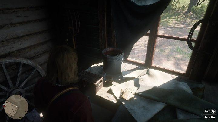 Коробка находится на левой стороне дома - Усадьба Stashes - Карты сокровищ в Red Dead Redemption 2 - Карта сокровищ - Red Dead Redemption 2 Guide