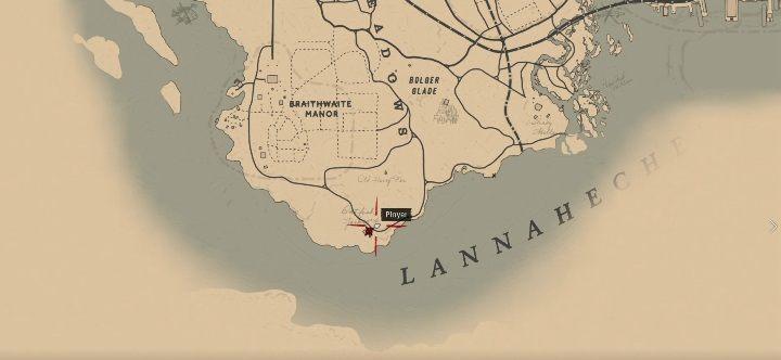 Farm Catfish Jacksons, вы найдете Брейтуэйт-Усадьбу к югу от Родоса - Усадьбы - Карты сокровищ в Red Dead Redemption 2 - Карта сокровищ - Red Dead Redemption 2 Guide