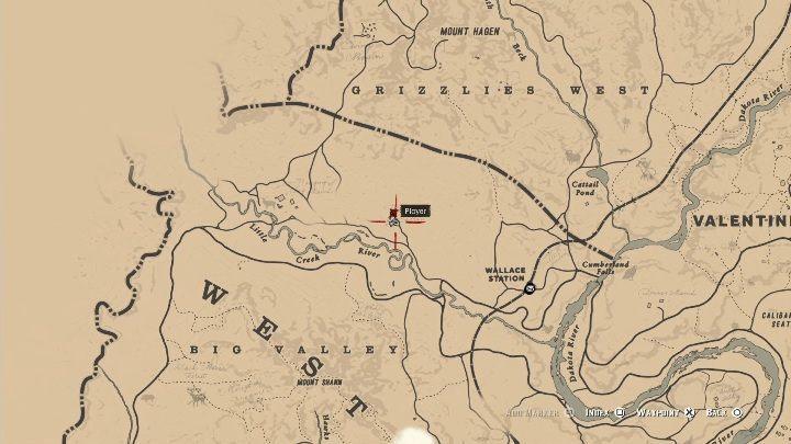 Усадьба Казино Уотсон расположена недалеко от реки Литл-Крик - Усадебные стаи - Карты сокровищ в Red Dead Redemption 2 - Карта сокровищ - Red Dead Redemption 2 Guide