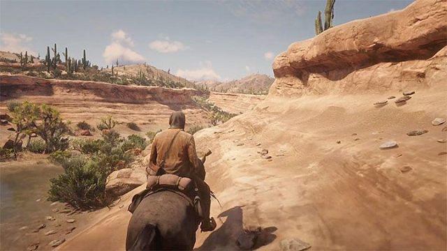 Найдите небольшую долину, представленную на картинке - Как добраться до Мексики в RDR2?  - FAQ - Red Dead Redemption 2 Guide