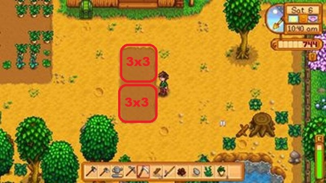 La agricultura de 9 segmentos no es necesaria, pero puede ser rentable.  - Un primer día ideal en Stardew Valley |  Inicio rápido - Inicio rápido - Stardew Valley Game Guide
