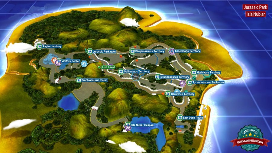 Introduction and map   Jurassic Park   secrets in free roam   LEGO     LEGO Jurassic World  Jurassic Park
