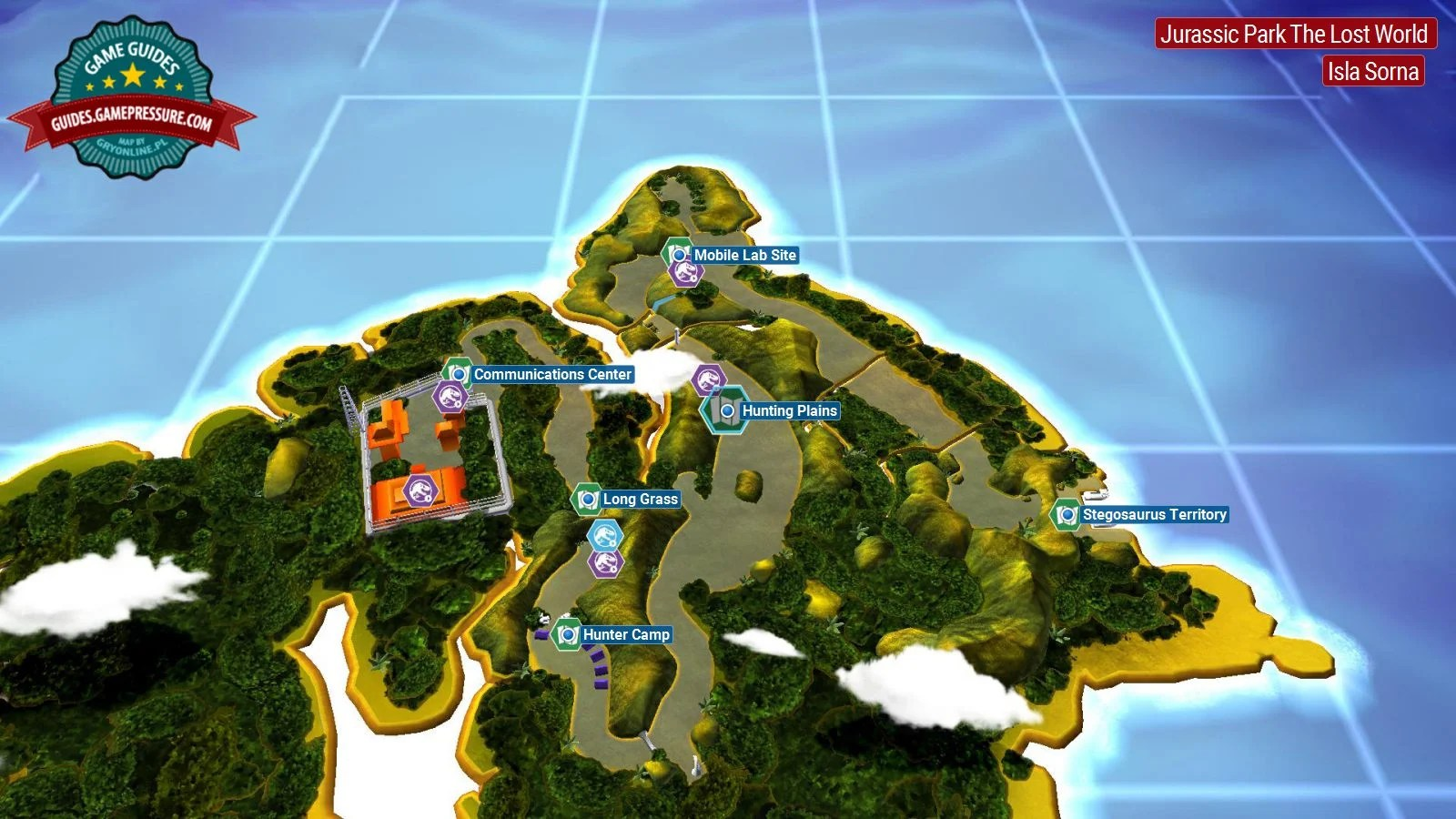 Introduction and map   Jurassic Park   The Lost World   secrets in     LEGO Jurassic World  Jurassic Park   The Lost World