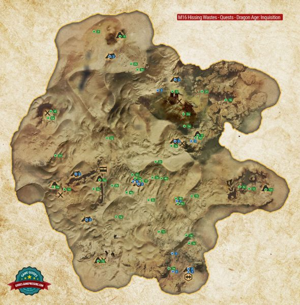 M16 The Hissing Wastes Quest Map   Dragon Age  Inquisition Game     Enlarge this map