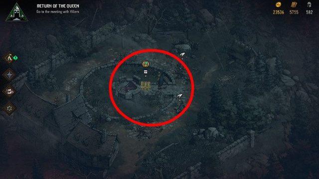 Доступ ко второму сундуку с сокровищами охраняется довольно сильным противником - Скрытые сокровища сундуков в Ривии |  Thronebreaker The Witcher Tales - Карты скрытых сокровищ - Тронно-разбойник The Witcher Tales Guide