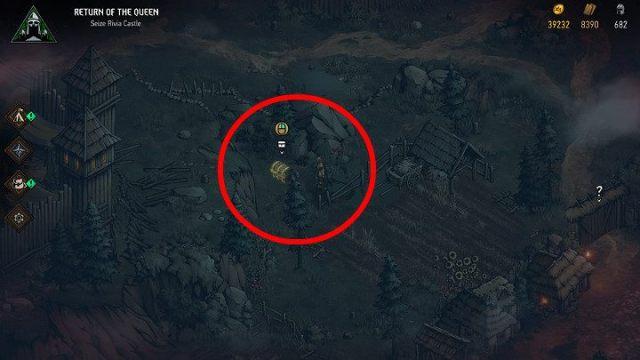 Достигнув места, выкопайте сундук и получите добычу - Скрытые сокровища сундуков в Ривии |  Thronebreaker The Witcher Tales - Карты скрытых сокровищ - Тронно-разбойник The Witcher Tales Guide