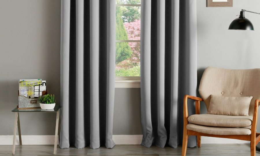 FAQs About Thermal Insulated Curtains   Overstock com grey thermal curtains