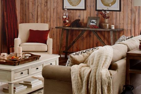 This Rustic Fall Living Room is What You Need this Year   Overstock com Autumn Decorating Ideas for the Living Room