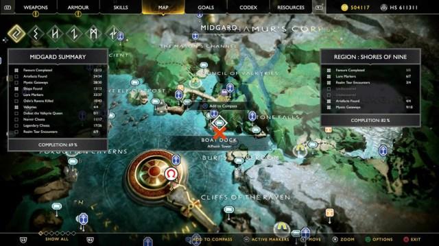 God of War - как найти части шифра и попасть в Нифльхейм