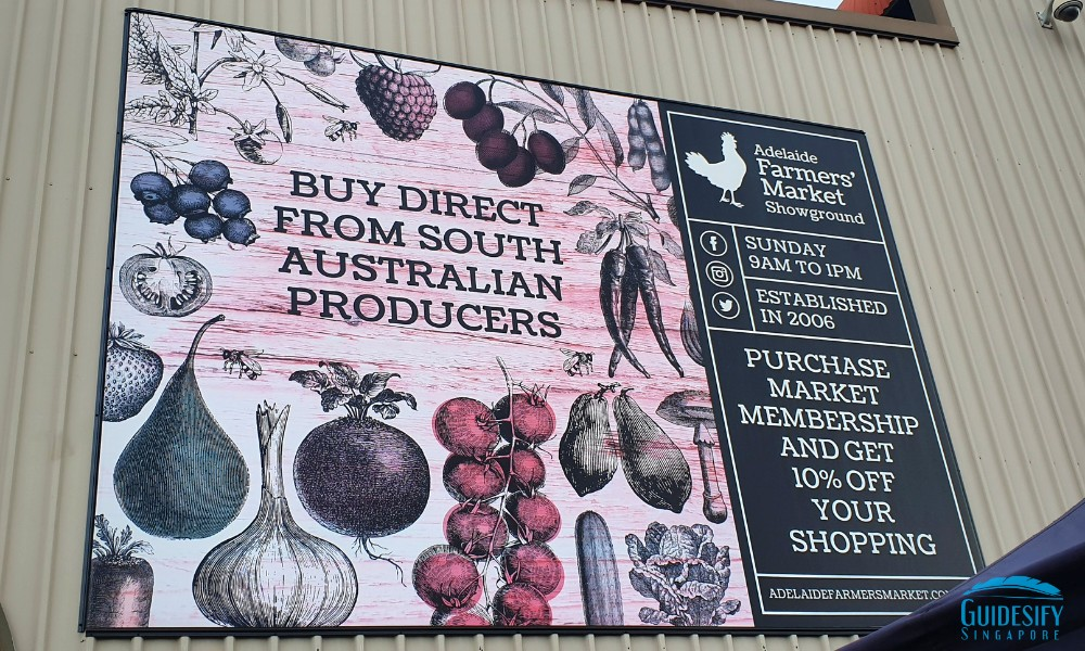 Adelaides Showground Farmers Market Signboard