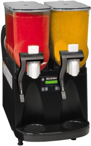Bunn O Matic ULTRA-2 PAF Black and Stainless Gourmet Ice System with 2 Hopper