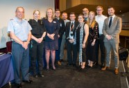 Photo by Liz Finlayson/Vervate LVS Ascot Routes to the World of Work 2018 - LVS Principal Christine Cunniffe with all the speakers
