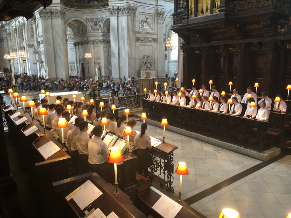 Abbey Gate College Chapel Choir Practising at St Paul's Cathedral