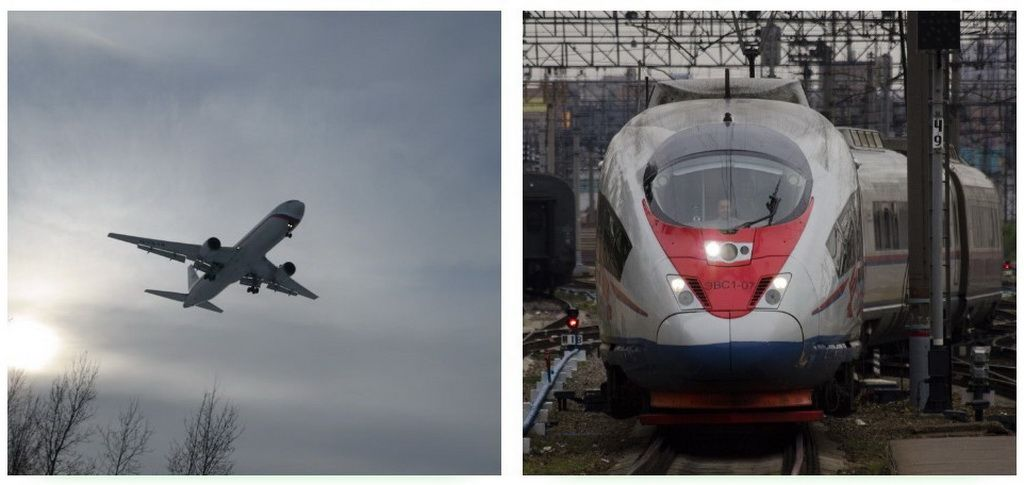 By plane or by train