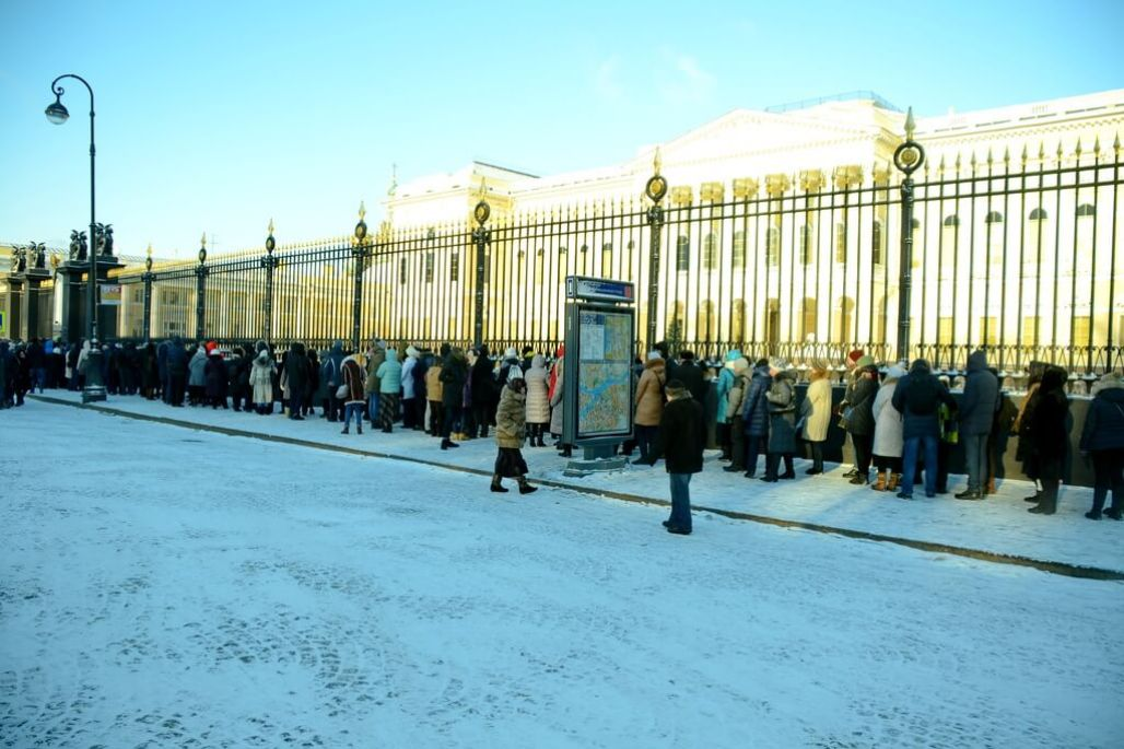 the queue at the Russian Museum