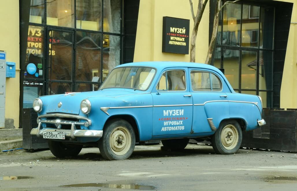 Old Soviet Moskvich car