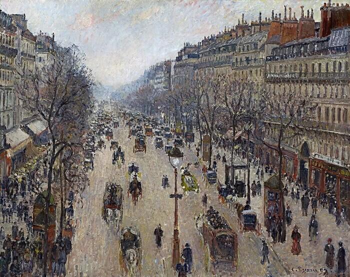 The Boulevard Montmartre in Paris