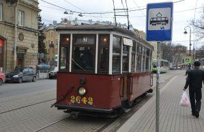 Retro tram St Petersburg