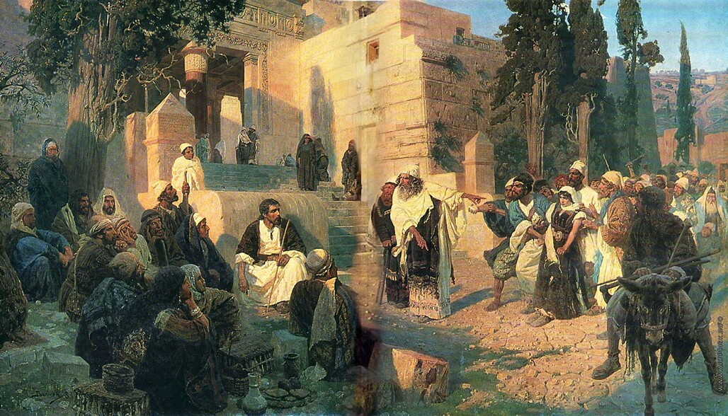 The Christ and the Sinner - Vasiliy Polenov