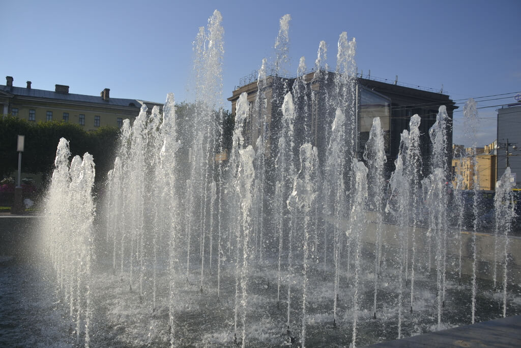 St Petersburg`s fountains