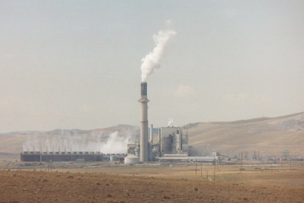 "Naughton Coal-fired Power Plant ,Kemmerer, WY 410 45' 28"" N, 1110 35' 53"" W"