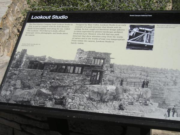 Lookout Studio Information Placard