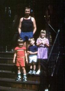Ingo Swann with Paul H. Smith's kids in 1985