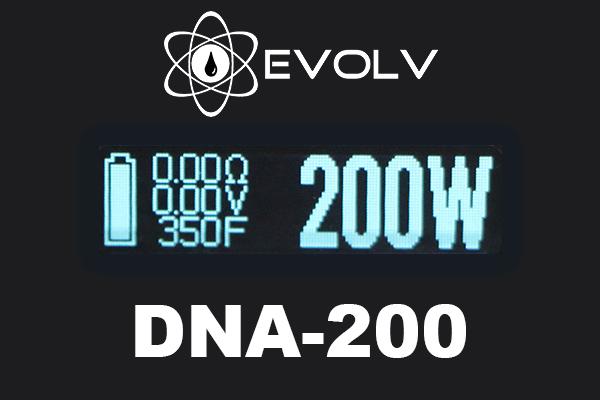 evolv dna 200 screen