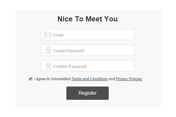 registering to volumebest