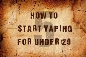 how to start vaping for under 20