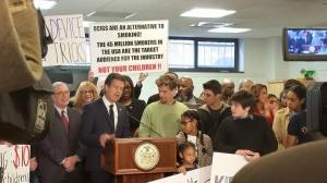 There are currently 45 million adults smokers in the United States, but according to the majority of anti-vaping advocates and government officials, this industry is targeting children. Ny Rally