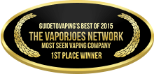 1st Place - Most Seen Vaping Company - The Vaporjoes Network