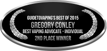 2nd Place - Best Vaping Advocate - Individual - Gregory Conley