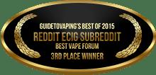 3rd Place - Best Vape Forum - Reddit ECig Subreddit (ECR)