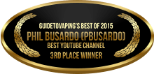 3rd Place - Best YouTube Channel - Phil Busardo (Pbusardo)