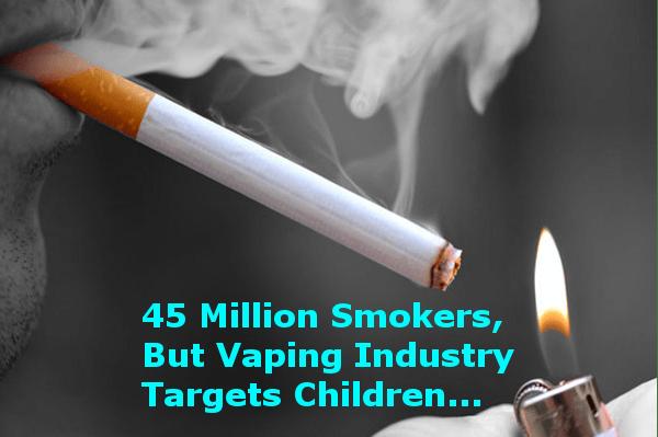 45 Million Smokers In The USA: Vaping Targets Children header