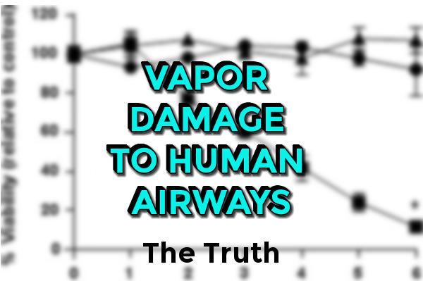 Vapor Damge To Human Airways