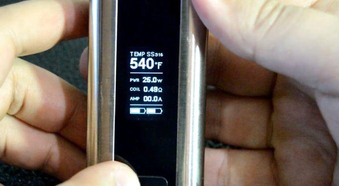 cuboid dual battery display