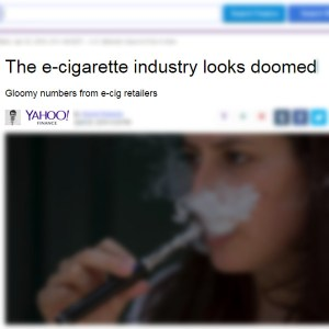 e-cigarette sales decline full story: misleading from yahoo