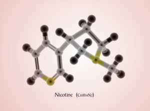 inverted 3d nicotine structure